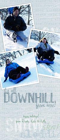 Downhillxmascard